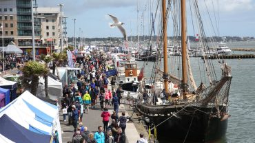 Coleman Marine Insurance in conversation with exhibitors at the 5th Poole Harbour Boat Show