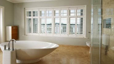 Brighten up your bathroom with Plantation Shutters